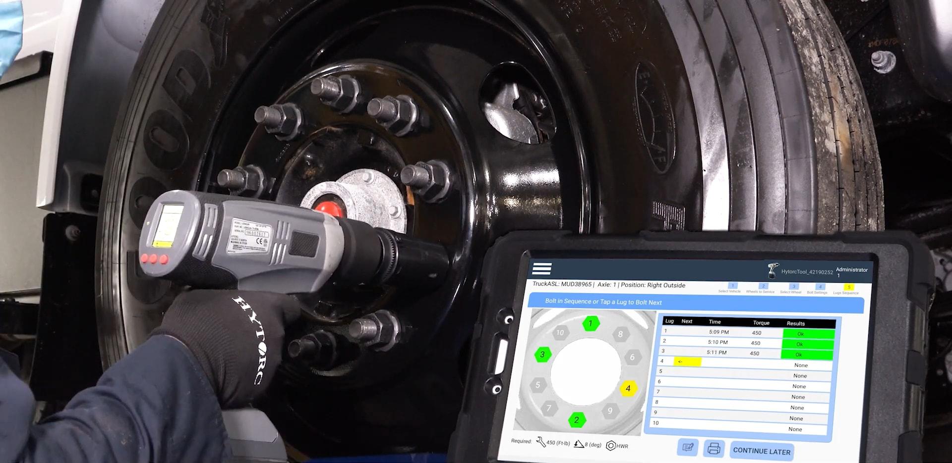 Raskaan kaluston rengastöihin suunniteltu Fleet Sequencer -sovellus auttaa renkaiden kiinnitystöiden hallinnassa